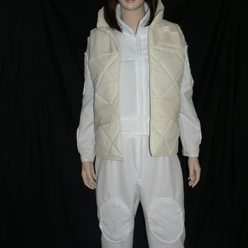 Star Wars Princess Leia's Hoth Costume - White Jumpsuit With Vest