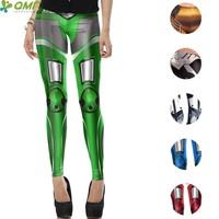 CYBORG 3d Print Halloween Yoga Pants Sexy Push Up Women Tights Punk Fitness Leggings Iron METAL Armour Trousers Skinny Costume