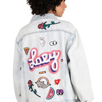 Lazy Oaf Vintage Inspired Long Sleeve Join the Club Jacket