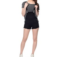 Empyre Haylee Black Overall Shorts