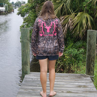 Bow Hunter Pink Camo UPF Long Sleeve Tee