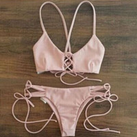 SIMPLE - Woman Summer Sexy Swimwear Bikini Set a10588