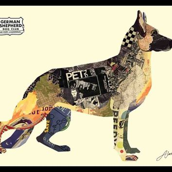 German Shepherd ~ Art Collage