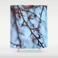 Tree Blooms Photo Shower Curtain - Nature Bathroom Decor - Made to Order