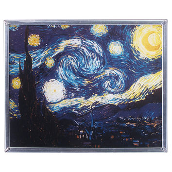 Park Avenue Collection Van Goghs Starry Night 1889 Art Glass