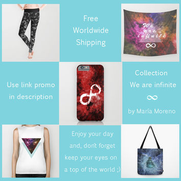 Collection We are Infinite + Free Shipping by MJ Mor | Society6
