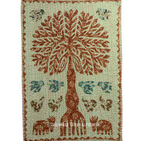 """24""""X36"""" Indian Fabric Cloth Tree of Life Bohemian Tapestry Wall hanging on RoyalFurnish.com"""