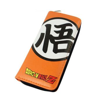 Dragonball Z Goku Orange Long Style Wallet Purse