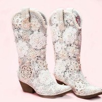 "White Cowgirl Boots ""Grace"""