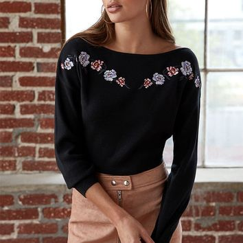 LA Hearts Double V Off-The-Shoulder Cropped Sweater at PacSun.com