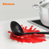 New Arrival Creative Style Splattering Blood Kitchen Spoon Holder Tomato Sauce Spoon Rest