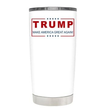Trump Make America Great Again on White 20 oz Tumbler
