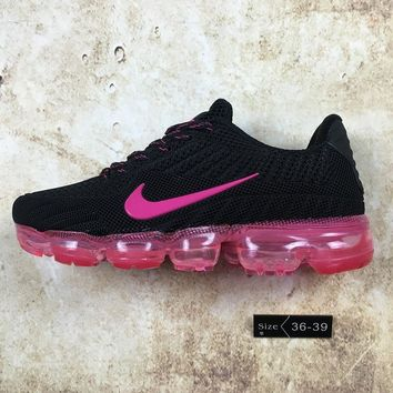 DCCK N070 Nike Air Vapormax Flyknit 2018 Breathable Sneaker Running Shoes Black Pink