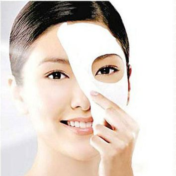 Face Mask  10Pcs/Lot Natural   DIY  Paper Compress