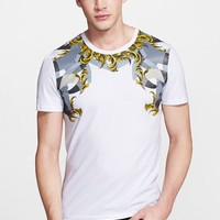 Men's Versace Collection Baroque Print T-Shirt,