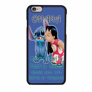 ohana means family lilo and stitch disney iphone 6 6s 4 4s 5 5s 6 plus cases