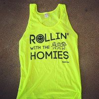 Rave Clothes - Rollin With the Homies Shirts - Mens Neon Tanks and Tees - Bad Kids Clothing – Bad Kids Clothing