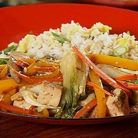 Tofu Stir-Fry with Fried Rice : Rescue Chef : Food Network