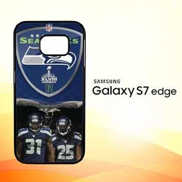 Seattle Seahawks W4887 Samsung Galaxy S7 Edge Custom Case