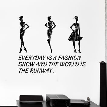 Vinyl Wall Decal Fashion Quote Style Woman Girl Room Stickers Unique Gift (ig4475)