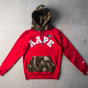AAPE by A Bathing Ape Pullover Hoody - Red/Camo