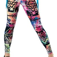 Aztec Print Leggings - See You Monday