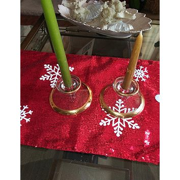 Beautiful Candle Stick Holders  22K Gilded
