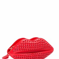 Studded Hot Lips Clutch