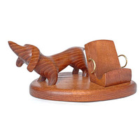 "Wooden Phone Stand ""DACHSHUND"". IPhone 6/5/4S/4/3GS Wood Table Stand. Wooden Mobile Stand. Smartphone Stand. Handcrafted Natural Ash-Tree"