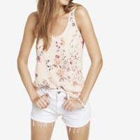 EMBELLISHED ROSE PRINT TANK