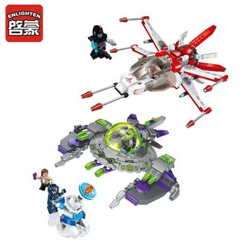 Star Wars Force Episode 1 2 3 4 5 ENLIGHTEN Space Adventure Alien Invasion Vehicles Educational Compatible Bricks Toy  Blocks For Children Boys AT_72_6