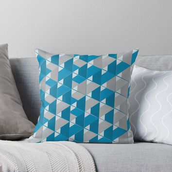 '3D Lovely GEO ' Throw Pillow by Creative BD
