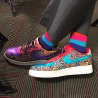 "SAGERSTRONG x NIKEiD Air Force 1 Low ""Craig Sager "" 815773-991"