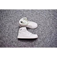 Nike Air Jordan Retro 1 High OG White Kid Basketball Shoes for Youth Boys and Child