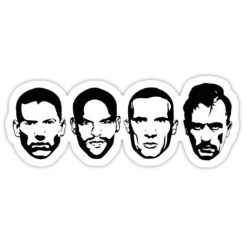 'Prison Break- Michael, Sucre, Lincoln & T-bag' Sticker by Sarah Teare