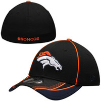 Denver Broncos New Era Viza Frame 39THIRTY Flex Hat - Black