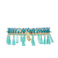 Kendra Scott Julie Bracelet in Gold & Aqua Mix | REVOLVE
