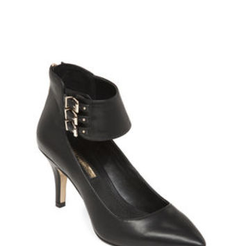 Opera Tri-Buckle Pointed-Toe Heels in Black - BCBGeneration