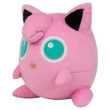 "Official Genuine Tomy Pokemon Jigglypuff 7"" Plush US Seller USA Authentic"