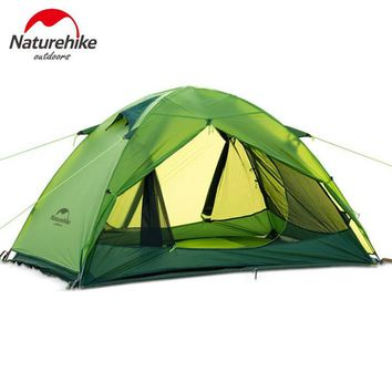 Camping Tent Outdoor Inflatable Lightweight 2 Person 20D Silicone Double-layer Tents