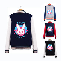 Sweatshirt Hoodie Men Jackets Baseball Coats Dva Autumn Clothes Winter Cotton Sweatshirts For Women Coat D.va Genji Reaper