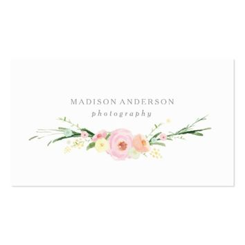 Watercolor Bouquet | Business Cards