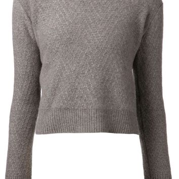 The Elder Statesman zigzag stitch sweater