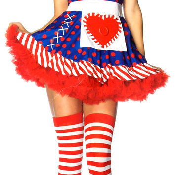 Leg Avenue Darling Dollie Sexy Halloween Costume Cosplay Dress Bonnet S M 83777