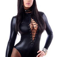 Sexy Bodysuit Fishnet Teddies Lingerie Cheekee LC3112 Cheap price Drop Shipping