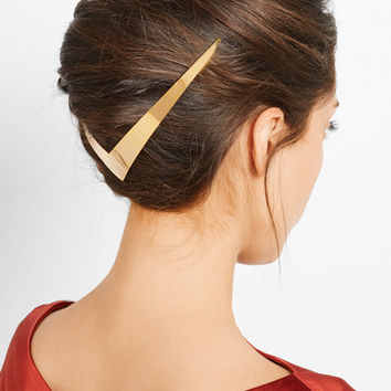 Lelet - Trek Halo gold-plated hair slide