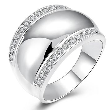 JEXXI Modern 925 Sterling Silver Rings Women Man Invisible Setting CZ AAAA+ Crystal Wedding Engagement Ring Jewelry