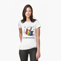 Unicorn Cat UniKitty So Meowgical T Shirt by bitsnbobs