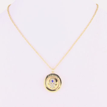 Protect Me Hamsa Charm Necklace - Gold or Silver