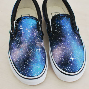 Galaxy Slip on Vans